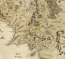 Middle Earth Map Sticker