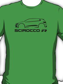 Black VW Scirocco silhouette 2015  T-Shirt