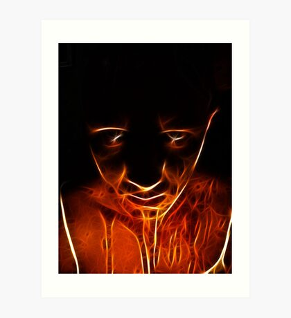 Melty scare face Art Print