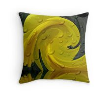 WET AND WILD DAFFODIL Throw Pillow