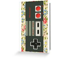 Floral Nintendo Classic Stick Greeting Card