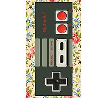 Floral Nintendo Classic Stick Photographic Print
