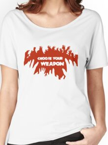 Choose Your Weapon Zombie Shirt Women's Relaxed Fit T-Shirt