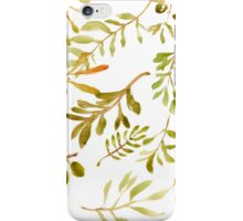 Olive Branches Painted w/ Watercolor iPhone Case/Skin