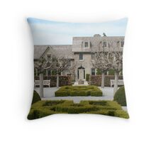 Building with Crazy Hedges Throw Pillow