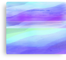 Seascape in Shades of Green, Purple and Blue Canvas Print