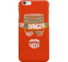 Heisenberg Danger Typhography Quotes iPhone Case/Skin