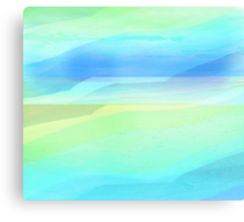 Seascape in Shades of Green, Yellow and Blue Canvas Print