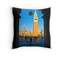 Campanile of San Marco Throw Pillow