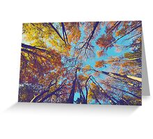 Blue Autumn Greeting Card