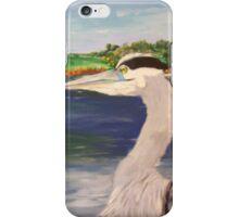 Blue Heron on Lake iPhone Case/Skin
