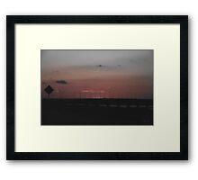 Interstate Sunset Framed Print