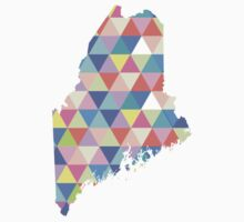 Maine Colorful Hipster Geometric Triangles  by CorrieJacobs