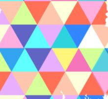 Maine Colorful Hipster Geometric Triangles  Sticker