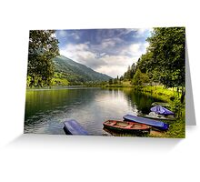 Feld am See ( Feld Lake ) - Carinthia - Austria Greeting Card