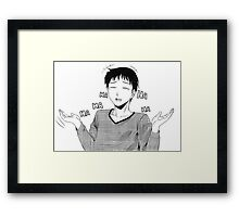 laughing dude Framed Print