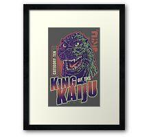 King of the Kaiju Framed Print