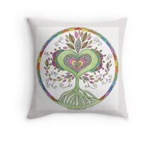 Heart Inspired Tree Throw Pillow