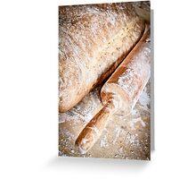 homemade organic bread  Greeting Card