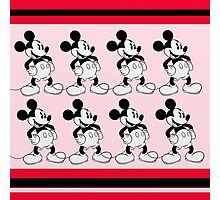 Mickey Mouse Scarf  Photographic Print