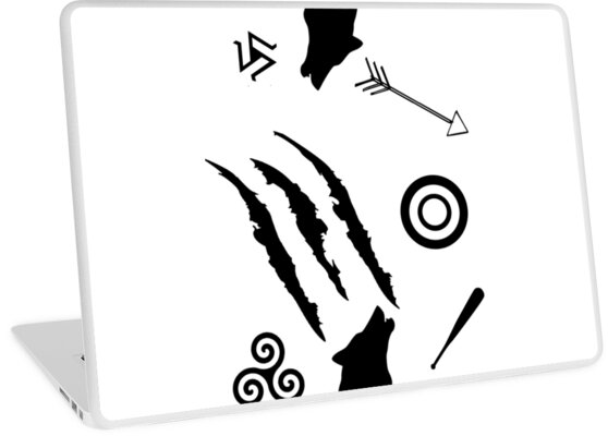 """Teen Wolf Symbols"" Laptop Skins by jordams124 