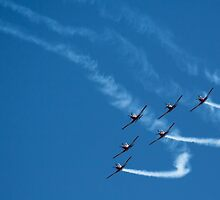 Flying in formation by Loquah