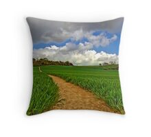 North Downs Way 9 Throw Pillow