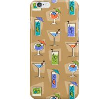 Happy Hour Retro Hawaiian Tropical Drinks - Khaki iPhone Case/Skin