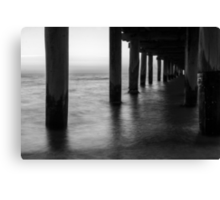 Seaford Pier in black and white Canvas Print