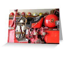 Engine 2 Helmets Greeting Card