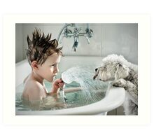 Shower Time Art Print