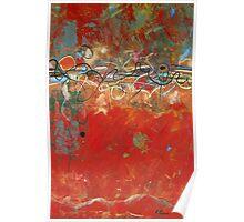 Red Meander Poster