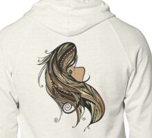 Tapa Hair - Brown/Gold Zipped Hoodie