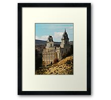 Manti Temple - From Whence it Sprang Framed Print
