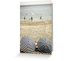 La Plage - Nice, France Greeting Card