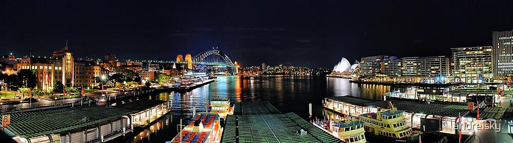 Circular Quay ferry wharf by andreisky