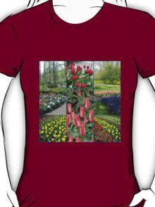 Keukenhof Collage featuring Pinocchio Tulips T-Shirt