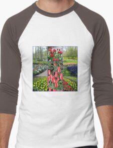 Keukenhof Collage featuring Pinocchio Tulips Men's Baseball ¾ T-Shirt