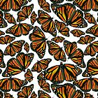 Monarch Butterflies by TinaGraphics
