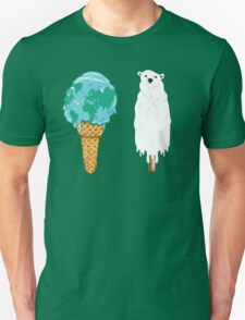 Global Warming Ice Cream Unisex T-Shirt
