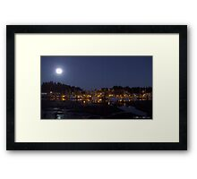 Ucluelet Harbour Lights Framed Print