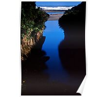 river beach. westcoast, aotearoa Poster