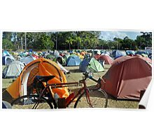 A Row Of Tents Poster