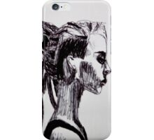 Dreaded Lady Sketch iPhone Case/Skin