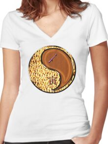 Sagittarius & Tiger Yang WOod Women's Fitted V-Neck T-Shirt