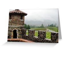 Napa Castle Greeting Card