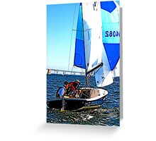 Snipe Sailing Greeting Card
