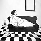 high society - woman on a couch by Tori Flick