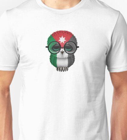 Nerdy Jordanian Baby Owl on a Branch Unisex T-Shirt