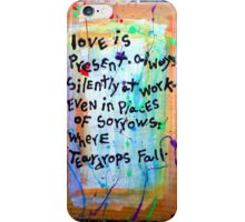 love is present iPhone Case/Skin